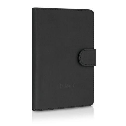 TrekStor Ledertasche mit Aufsteller für eBook Reader Pyrus und Liro Ink schwarz