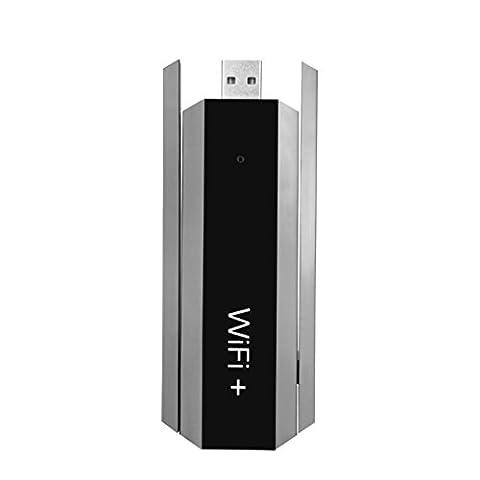 Gaddrt 300Mbps sans fil USB WiFi double gamme Extender WiFi signal répéteur routeur de soutien Win 2000, Win 2008, Win Vista, Win7 32, Win7 64, WIN8 32, WIN8 64,