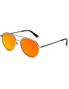 GOUQIN Gafas De Sol Las Películas En Color De Moda Gafas De Sol Polarizadas Gafas De Bastidor Grande, Marco Dorado...