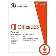 Microsoft Office 365 Personal - Abonnement-Lizenz ( 1 Jahr ) - 1 Tablet, 1 PC/Mac - gehostet - Download - 32/64-bit, ESD, Click-to-Run