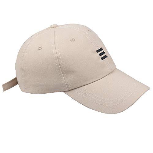 Aiserkly Unisex Schirmmützen Hüte Hip Hop Mützen Baseball Caps Baseballmütze verstellbare Baseballmütze Damen Herren Jungen Mädchen Beige (Patriots-retro-baseball-mütze)