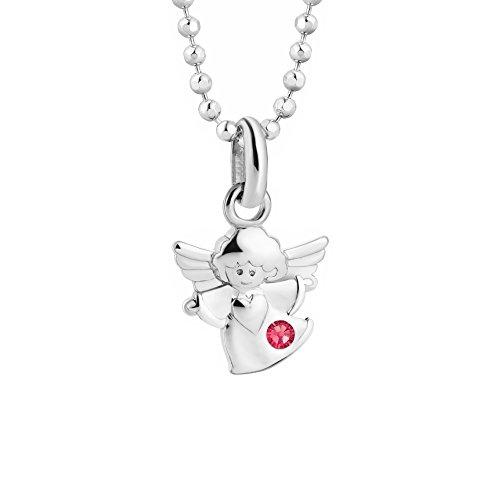 butterfly Mädchen Kette Silber 925 Original Swarovski Elements Schutz-Engel Glücksbringer Rosa Längen-verstellbar Satin-Beutel Konfirmation Geschenke