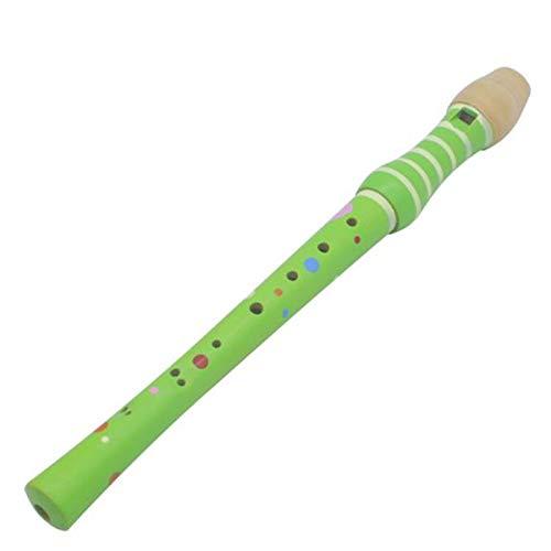 CUHAWUDBA 8 Loch FL?Te Klarinette Piccolo Trompete Trompete Spielzeug Holz FrüH Kindliche Erziehung Spielzeug Musikalische Bildung Musik Instrument GrüN
