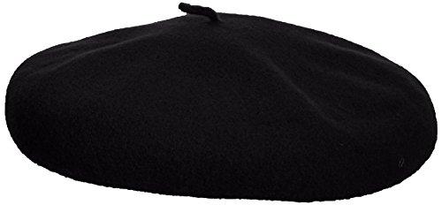 kangol Unisex Baskenmütze Anglobasque Beret, Gr. Medium (Herstellergröße: Medium), Schwarz