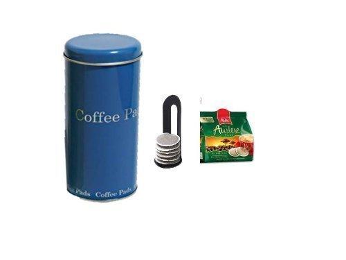 Melitta Auslese KaffeePads Klasisch für Senseo +Padheber und Paddose blau