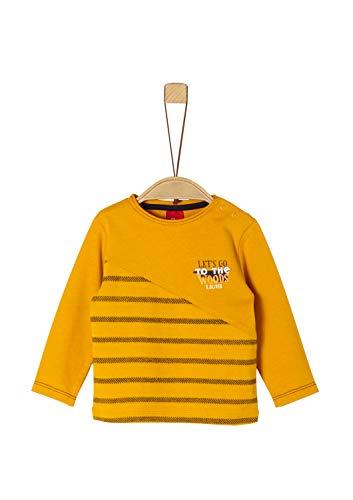 s.Oliver Baby-Jungen 65.909.31.8906 T-Shirt, Gelb (Dark Yellow 1549), (Herstellergröße: 80)