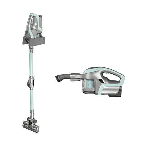 CLEANmaxx Akku-Zyklon-Staubsauger Premium 3in1 | Akku-Stielstaubsauger | Handstaubsauger | Akkustaubsauger beutellos und kabellos | Elektrobürste | Lithium-Ionen-Akku | Turbo-Düse | (Minze)