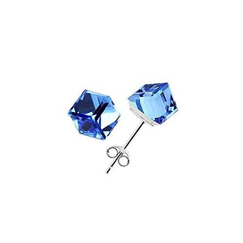 pendientes-uas-cubo-circonita-mujeres-de-los-hombres-cristalinos-unisex-de-plata-de-ley-925-azul