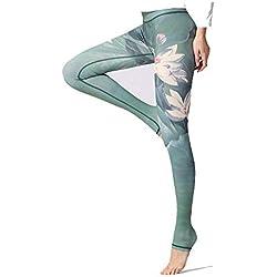 Kentop - Leggings de Yoga para Mujer, Ajustados Verde Verde M