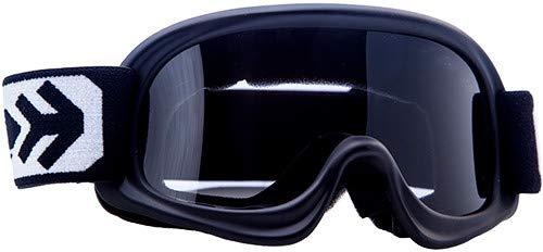 """Armor  AG-49 """"Matt"""" (Schwarz)  Kids Cross-Brille  Sport Kinder Moto MX Schutz-Brille Enduro  (Black / Silver / Clear)"""