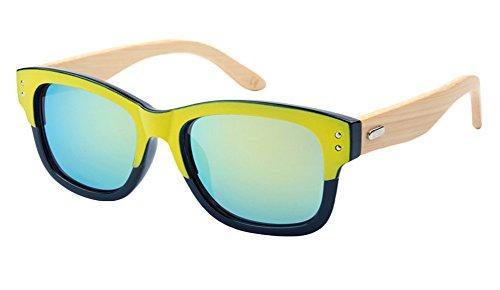Insun Herren Sonnenbrille Gr. Einheitsgröße, Mehrfarbig - 6919MC2 Wood Arm