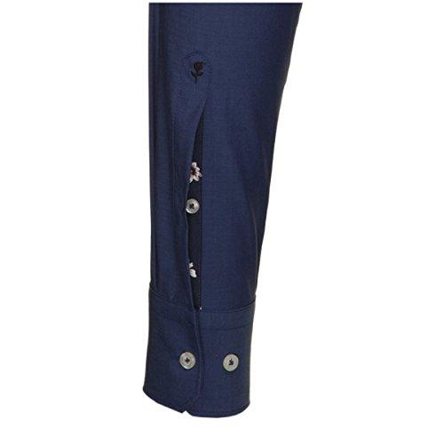 Seidensticker chemise pour homme coupe ajustée rose noire 1/1 bras - 01.241096 infroissable Bleu foncé