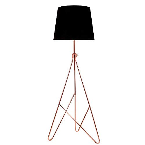LED Stehleuchte Vintage Kupfer Filament 7W = 60W E27 schwarzer Schirm Retro Industrie Design Metall Stehlampe
