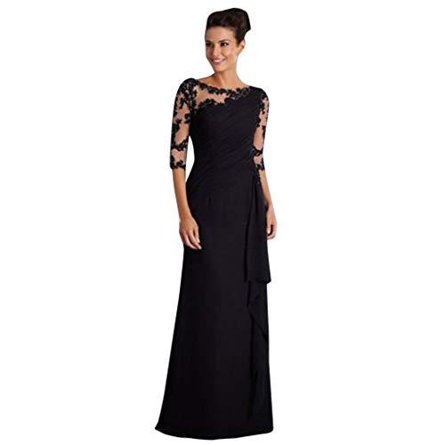 Oliviavan Kleider,Elegant Abendkleid Ballkleid Langes Ärmelkleid mit Langen Nähten für Frauen Brautjunfer Langes Sommer Party Kleid Hochzeit