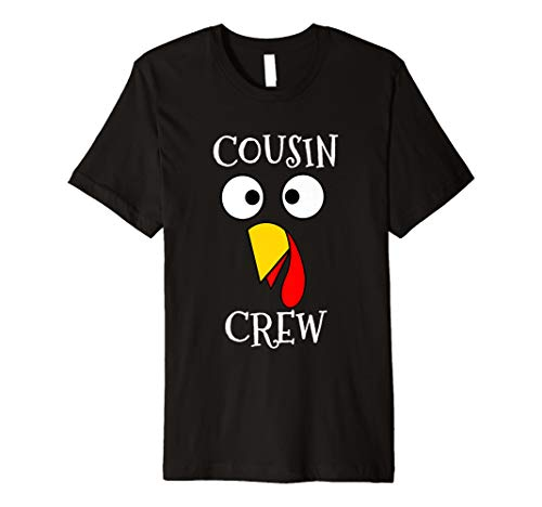(Cousin Crew Türkei Face Passende Gruppe Thanksgiving T Shirt)