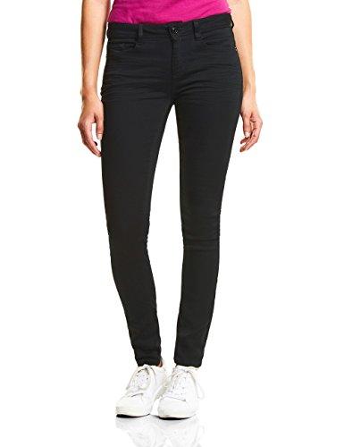 Street One Damen Slim Jeans 371612 York, Schwarz (Black Clean Wash 11518), W34/L32 (Herstellergröße: 34)