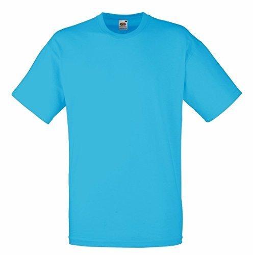 Preisvergleich Produktbild Fruit Of The Loom Herren Kurzarm T-Shirt L / 104-109cm Brust,Azur