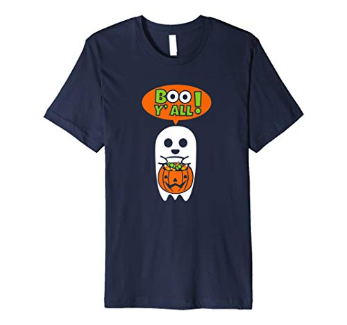 Boo Yall Trick oder Behandlung Ghost mit Jack O Laterne Shirt
