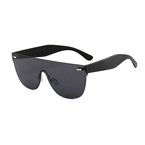 BUYAOAQ Sonnenbrillen-Sonnenbrillen Der Frauen Nageln Kunst Die Rahmenlose Gelbe Linsengläser Der Männer