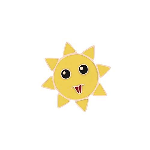 FSAKLFS Expresión Facial Sunshine Moon Broches Esmalte