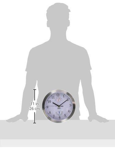 HITO - Reloj de pared silencioso y moderno (10'), plástico, T&H-weiß