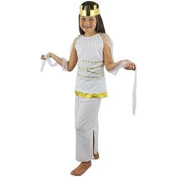 CHILDS GREEK GIRLS GODDESS HERA FANCY DRESS COSTUME 3 SIZES SML GRECIAN  SCHOOL CURRICULUM KIDS OUTFIT