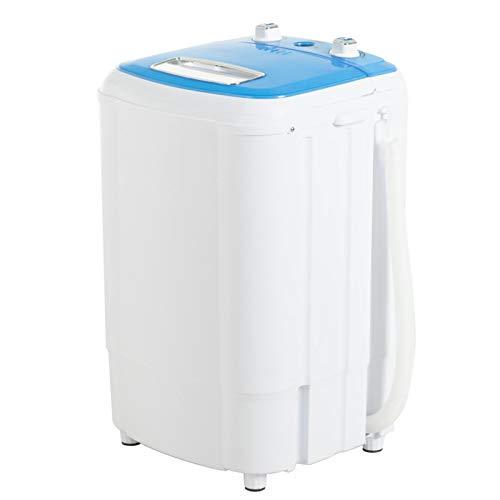 KUPPET Vollautomatische tragbare mini Waschmaschine, Compact Multifunktionswaschmaschine, Waschmaschine und Schleuder/Top Load Panel/Kindersicherung /