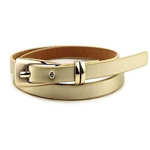 Ddcjc Gürtel Hot Pc Gürtel 15 Kleid Gürtel Dünn Verkaufende Taille Bund Skinny 1 Womens Bow Candy Leder Farben, Gold Bow Skinny Belt