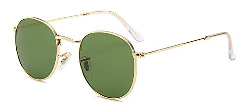 Sport-Sonnenbrillen, Vintage Sonnenbrillen, Glass Lens Retro Round Sunglasses Women Fashion Dark Green Sun Glasses Men