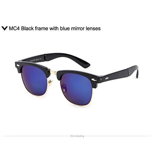 Klassische Sportsonnenbrille, Vintage Half Frame Classic Folding Oculos De Sol Feminino Foldable Sunglasses Men 1287