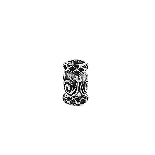 nklaus 925plata de ley kelte Perla de Pelo y barba joya doble espiral 7130