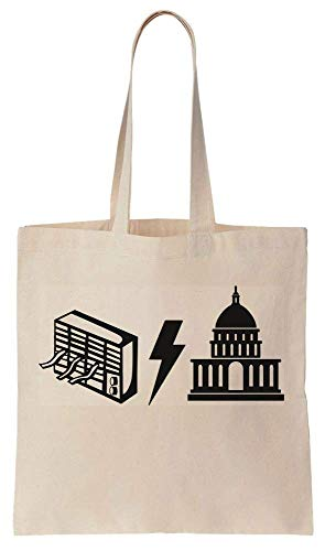 Finest Prints Air Conditioning and Washington DC Acronym Cotton Canvas Tote Bag -