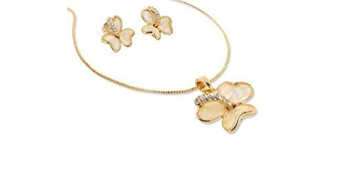 Janeo Jewellery Sets, Pearls & Swarovski Crystals Mix Herren -    Gold     Nacre    (Kostüm Schmuck Broschen Großhandel)