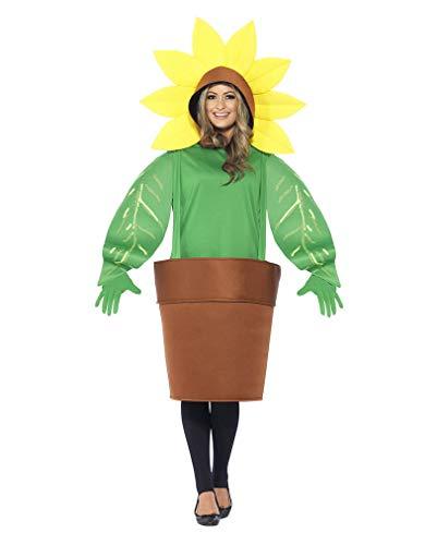 Horror-Shop Sonnenblumenkostüm für Mann und Frau (Blumentopf Männer Kostüm)