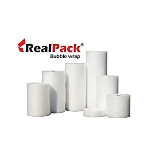REALPACK® | 1 x Small Bubble Wrap Roll | Size - Wide 500mm x 100m Length | Strong Enough Ideal for House Moving | Fast Free UK Delivery*