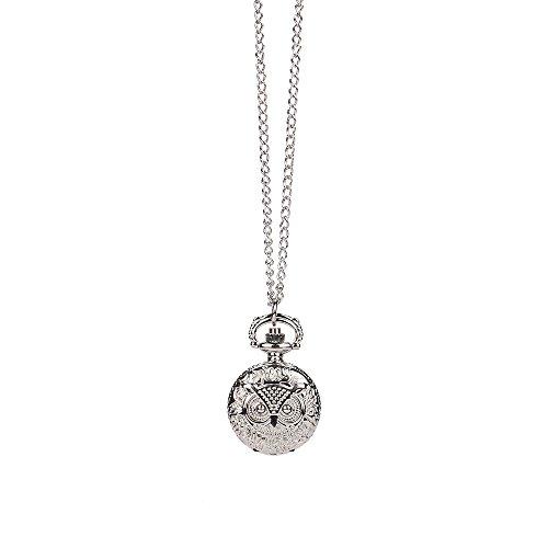 ge Steampunk Retro Bronze Design Pocket Watch Quartz Pendant Necklace Gift ()