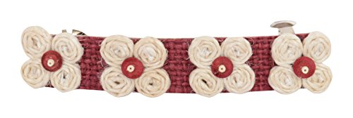 Jute Mill Maroon And Brown Jute Hair Clip For Women (JutemillJewel08)