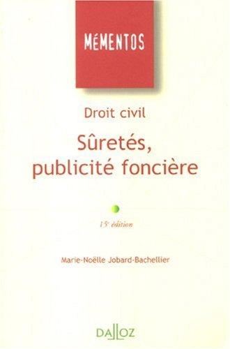Droit civil : Sûretés, publicité foncière