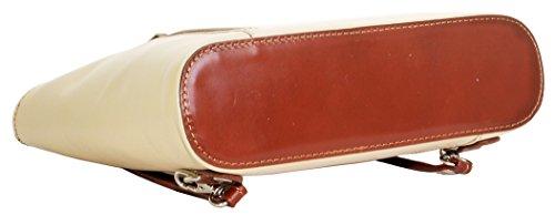 In pelle italiana, borsetta, borsa o zaino.Versioni di medie e grandi dimensioni.Include una custodia protettiva marca. Brown & crema medio
