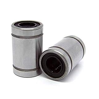 ADream 6 stücke LM8UU 8mm Linearkugellager Bush Buchse Auto Zubehör (Farbe : Silver)