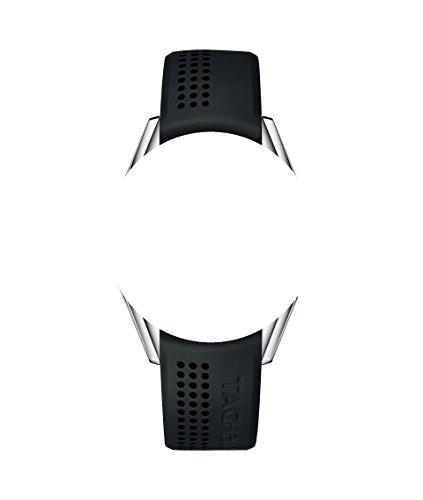 Correas de reloj de silicona 20/18mm, color negro con logotipo de Tag Heuer, para Tag Heuer