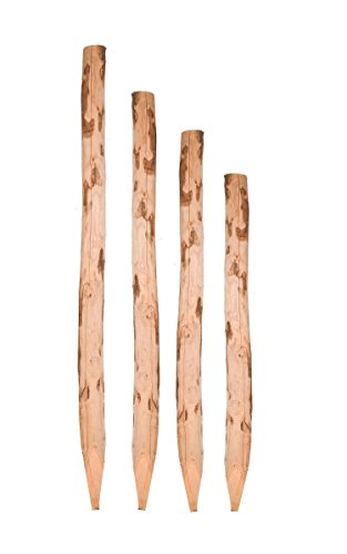*Zaunpfosten Kastanie 100 cm – Kastanienpfosten Staketenzaun – Kastanienholz Zaun Pfosten Zaunpfahl Holz Pfahl*