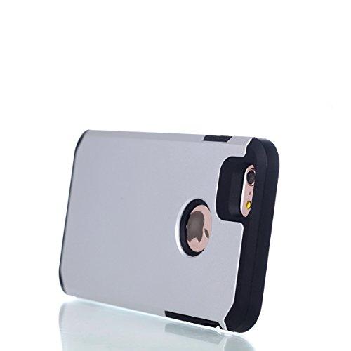 Cover iPhone 6S Plus,Cover iPhone 6 Plus,Custodia iPhone 6S Plus / 6 Plus Cover,ikasus® [Heavy Duty Serie] Hybrid Outdoor Dual Layer Armor Custodia custody sleeve Case Cover per iPhone 6S Plus / 6 Plu Bianca