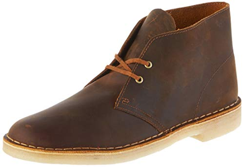 Clarks originals boot, stivali desert boots uomo, marrone (beeswax leather-), 44 eu
