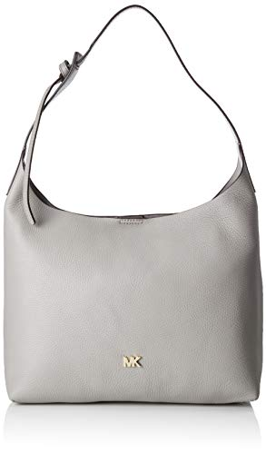 Michael Kors Damen Junie Medium Shoulder Bag Schultertasche, Grau (Pearl Grey), 12.7x25.4x34.2 cm (Michael Kors Medium Grau Handtasche)