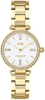 Coach WOMEN'S WHITE DIAL IONIC THIN GOLD 1 STAINLESS STEEL WITH CRYSTAL WATCH - 1450