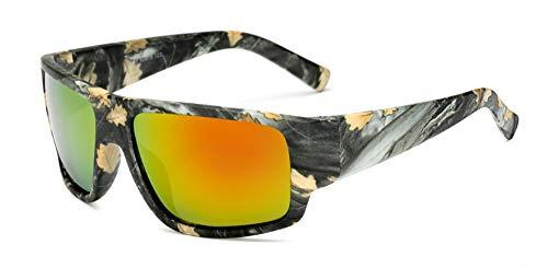 Sonnenbrille Frauen Designer Polarisierte Sonnenbrillen Neue Männer Nachtfahrten Camo Schutzbrille Nachtsicht Brille Tarnung, Rote Linse