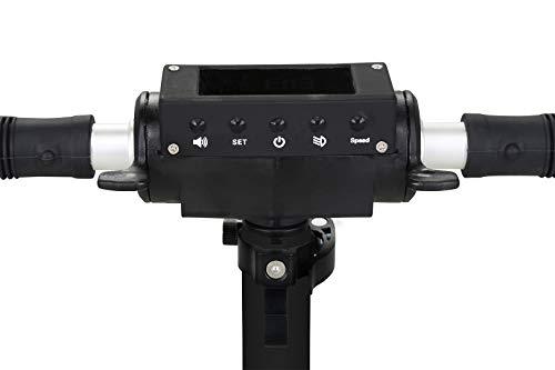 eFlux Elektroroller Scooter - 500 Watt Motor - Bis 30 km/h - 30 Km Reichweite - Nur 10,8 Kg leicht - Klappbar - E-Scooter (Lite One Schwarz Rot)