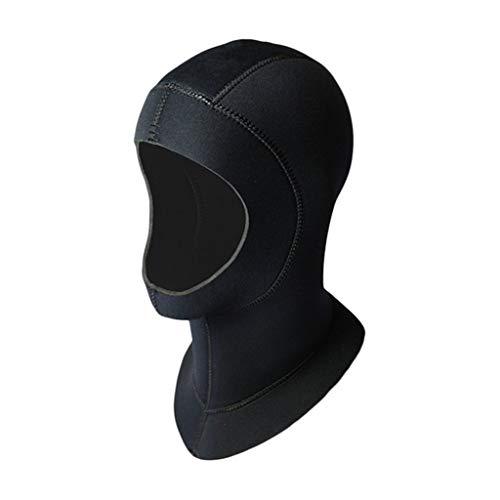 Zyj Badekappe Neopren Tauchen Kopftuch Schulter Schnorchelausrüstung Hut Kappe Winter Schwimmen Warmer Tauchanzug (Color : 3mm, Größe : M)