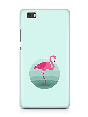 COVER Flamingo mint Kreis Design Handy Hülle Case 3D-Druck Top-Qualität kratzfest Huawei P8 Lite